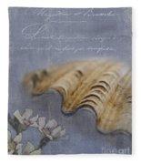Catspaw Seashell Fleece Blanket