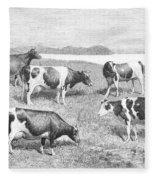 Cattle, 1888 Fleece Blanket