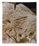 Cave Art: Vulva Fleece Blanket