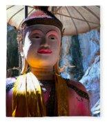 Cave Buddha Fleece Blanket