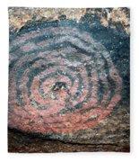 Cave Painting At Uluru Fleece Blanket