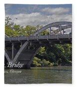 Caveman Bridge With Text Fleece Blanket