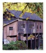 Cedar Creek Grist Mill In Autumn Fleece Blanket