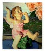 Celebrate The Rain With Roses 2 Fleece Blanket