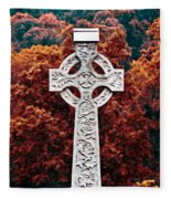 Celtic Cross Fleece Blanket
