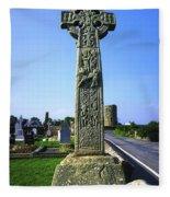 Celtic High Cross At Drumcliff Fleece Blanket