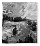 Cemetery And Pastures Fleece Blanket