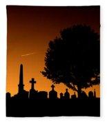 Cemetery And Tree Fleece Blanket