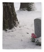 Cemetery In Winter Fleece Blanket