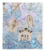 Cemetery Invert Fleece Blanket