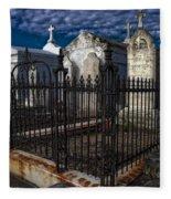 Cemetery Landscape Fleece Blanket