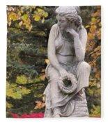 Cemetery Statue 1 Fleece Blanket