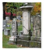 Cemtery Cracked Tombstones Fleece Blanket