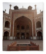 Central Cross Section Of Humayun Tomb In Delhi Fleece Blanket