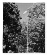 Central Park Flag In Black And White Fleece Blanket
