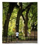 Central Park Jogging Fleece Blanket