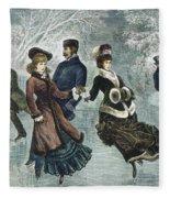 Central Park, Nyc, 1877 Fleece Blanket