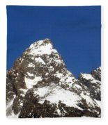 Central Teton Mountain Peak Fleece Blanket