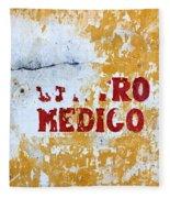 Centro Medico Sign Fleece Blanket