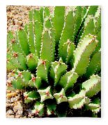 Cereus Peruvianis Cactus Fleece Blanket