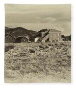 Chaffee County Poor Farm Print Fleece Blanket