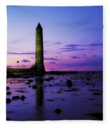 Chaine Memorial Tower, Larne Harbour Fleece Blanket