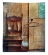 Chair By Open Door Fleece Blanket