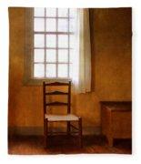 Chair Under Window Fleece Blanket