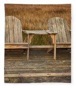 Wooden Chairs Fleece Blanket