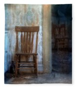 Chairs In Rundown House Fleece Blanket