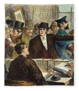 Challenging A Voter, 1872 Fleece Blanket