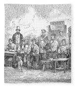 Champagne Production, 1855 Fleece Blanket