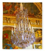 Chandelier At Versailles Fleece Blanket