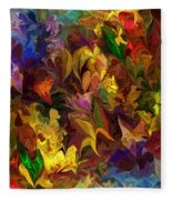 Chaotic Canvas Fleece Blanket