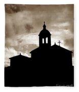 Chapel Silhouette Fleece Blanket