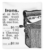 Charcoal Iron, 1895 Fleece Blanket