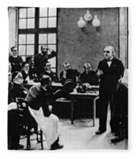 Charcot Demonstrating Hysterical Case Fleece Blanket