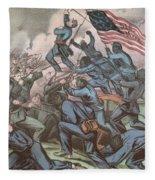 Charge Of The 54th Massachusetts Fleece Blanket