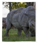 Charging Rhino. Fleece Blanket