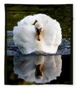 Charging Swan Fleece Blanket