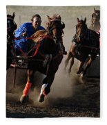 Rodeo Chariot Race Fleece Blanket