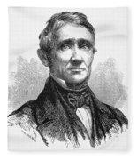 Charles Goodyear /n(1800-1860). American Inventor. Line Engraving, 19th Century Fleece Blanket
