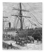 Charleston: Cotton Ship Fleece Blanket