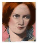 Charlotte Bronte, English Author Fleece Blanket