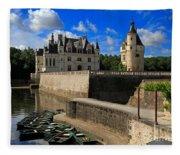 Chateau Chenonceau Loire Valley Fleece Blanket