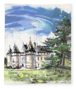 Chateau De Chaumont In France Fleece Blanket