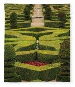 Chateau De Villandry Fleece Blanket