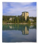 Chateau Lake Louise Fleece Blanket