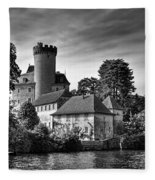 Chateau On The Lake At Annecy Fleece Blanket