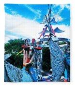 Chauvin La Sculpture Garden Fleece Blanket
